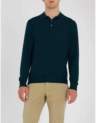 Canali Long-sleeved knitted polo