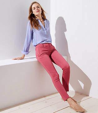 LOFT Tall Skinny Zip Pocket Sateen Pants