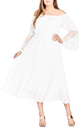 City Chic Ethereal Maxi Dress