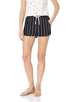 Billabong Women's Road Trippin Yarn Dye Short, Black/White, M