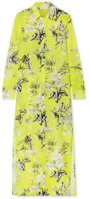 Christina Eywasouls Malibu Floral-print Cotton-voile Maxi Dress - Bright yellow