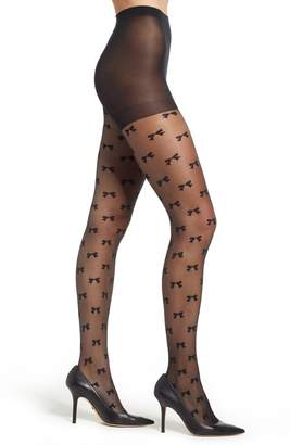 Kate Spade Bow Fishnet Tights