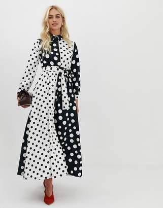 Zibi London polka dot print shirt dress