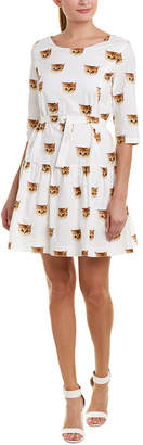 Paul & Joe Sister Cat All Over Drop-Waist Dress