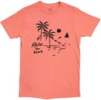 Altru APPAREL Aloha You Beach Cracked Ink Graphic tee by