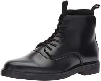Calvin Klein Men's Devlin Box Leather/Knit Boot