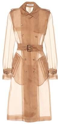 Silk organza trench coat