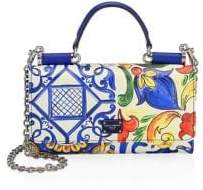 Dolce & Gabbana Dauphine Stampato Leather Satchel