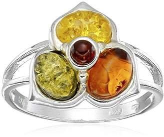 Sterling Silver Multi-Color Amber May Collection Ring