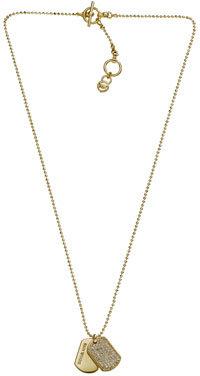 Michael Kors Golden Dog Tag Necklace