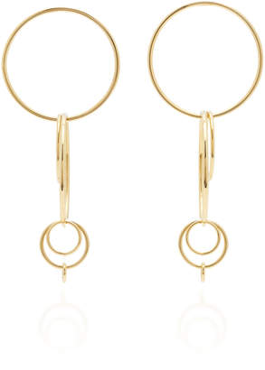 gold hoop earrings jennifer fisher kate metallic in lyst jewelry plated