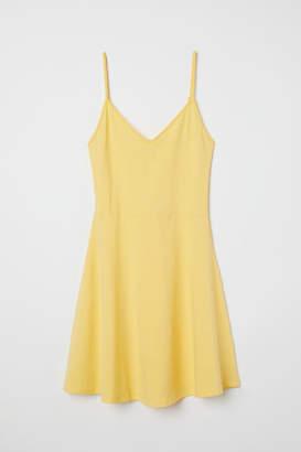 H&M Short Jersey Dress - Yellow