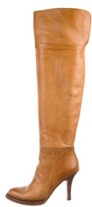 Ermanno Scervino Leather Over-The-Knee Boots