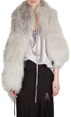 Ann Demeulemeester Fur Wrap Vest