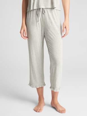 Gap Ruffle Trim Print Lounge Pants