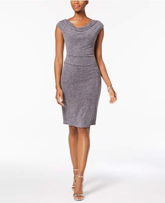 Jessica Howard Draped & Ruched Glitter Dress