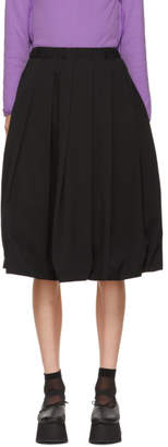 Comme des Garcons Black Box Pleat Wool Skirt