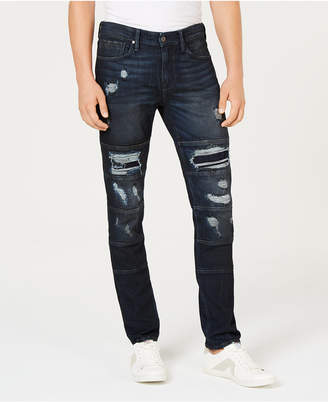 GUESS Men's Slim-Fit, Tapered Ripped Jeans