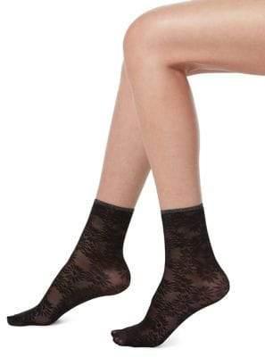 Hue Floral Anklet Socks