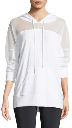 Onzie Hooded Long-Sleeve Mesh Pullover