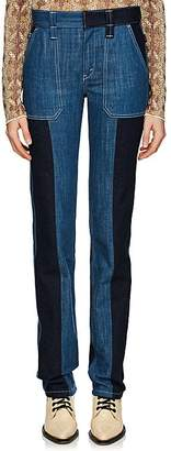 Chloé Women's Patchwork Straight Jeans