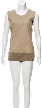 Maison Margiela Leather Sleeveless Bodysuit w/ Tags