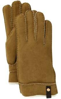 UGG Tenney Sheepskin & Leather Tech Gloves