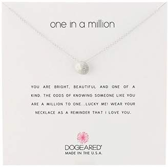 Dogeared Reminders-One in a Million Sterling Sand Dollar Charm Necklace
