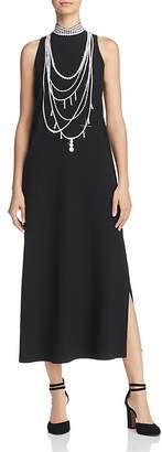 Moschino Pearl-Print Midi Dress
