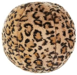 Magaschoni Leopard Print Faux Fur Ball
