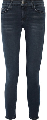 Current/Elliott - The Stiletto Mid-rise Skinny Jeans - Dark denim $210 thestylecure.com