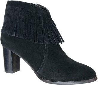 David Tate Leather Ankle Boots - Misty
