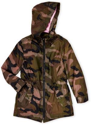 Blank NYC Blanknyc (Girls 7-16) Camouflage Hooded Windbreaker Jacket