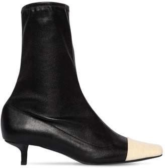 BY FAR 40MM KARL STRETCH LEATHER SOCK BOOTS