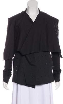 Rick Owens Lilies Cutout Long Sleeve Jacket