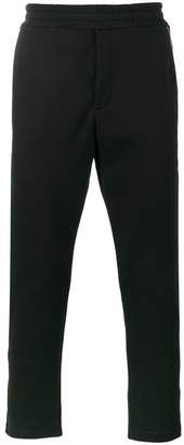 Alexander McQueen zip detailed skull patch tapered trousers