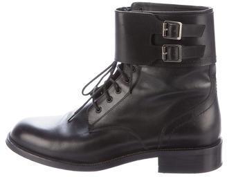Saint LaurentSaint Laurent Leather Combat Boots