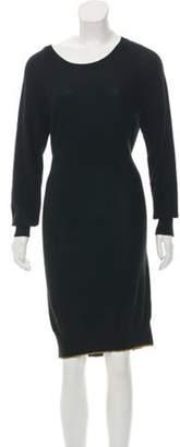 Sonia Rykiel Long Sleeve Sweater Dress Black Long Sleeve Sweater Dress