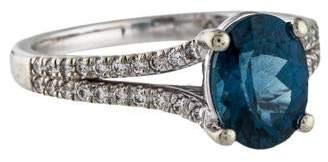 Ring 18K Sapphire & Diamond Split Shank