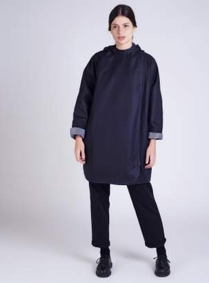 Kate Sheridan BATWING Waxed Cotton Coat in Navy and Regatta