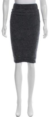 Intermix Knee-Length Angora Skirt