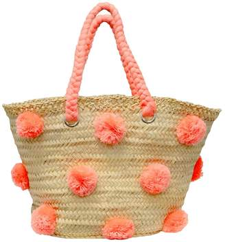 The House of Perna Patti Straw Tote