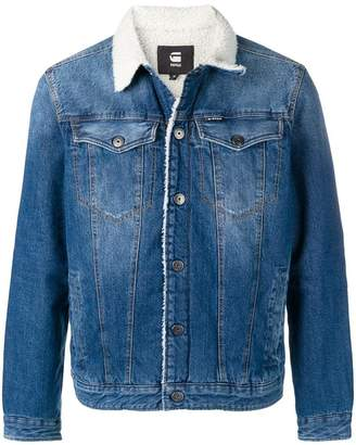 G Star Research wool lined denim jacket