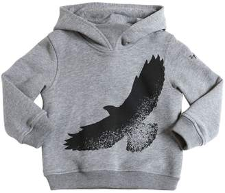 Il Gufo Eagle Print Hooded Cotton Sweatshirt