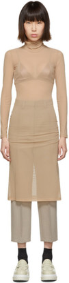 MM6 MAISON MARGIELA Beige Turtleneck Dress