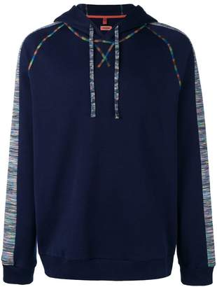 Missoni multicoloured stitching hoodie