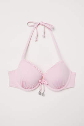 H&M Push-up Bikini Top - Pink