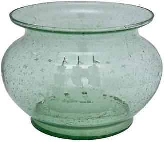 One Kings Lane Vintage Antique Soda Glass Ship Vase - Rose Victoria