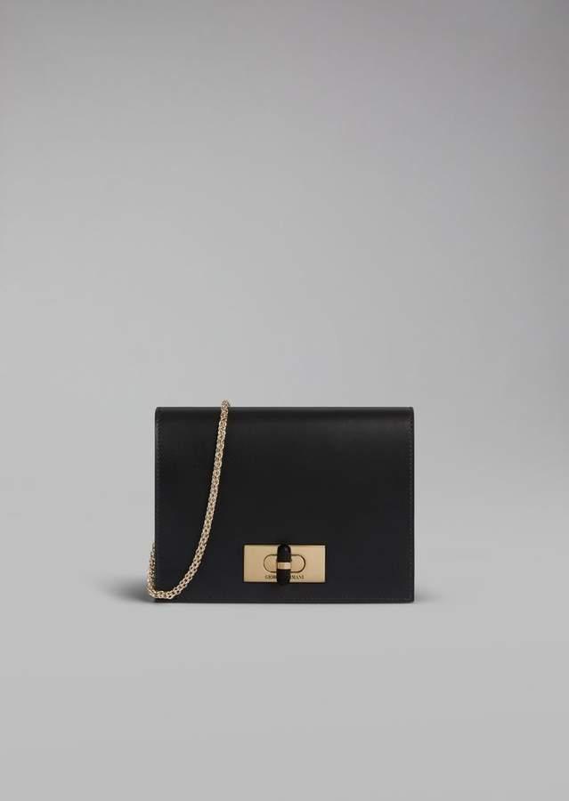 Giorgio Armani Smooth Leather Shoulder Bag - ShopStyle c0fb2ca8bdafa