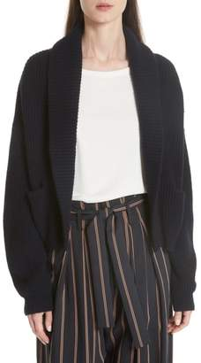 Vince Ribbed Crop Cardigan